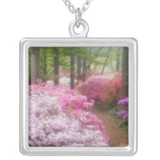 USA; Georgia; Pine Mountain. Azaleas at Silver Plated Necklace