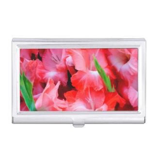 USA, Georgia, Savannah, Bouquet Of Gladiolus Business Card Holder