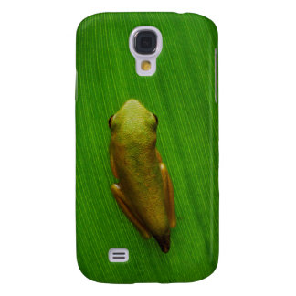 USA, Georgia, Savannah, Tiny Frog On Leaf Galaxy S4 Case