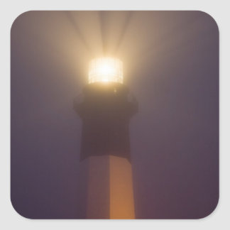 USA; Georgia; Savannah.  Tybee Island Lighthouse Square Sticker