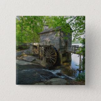 USA, Georgia, Stone Mountain, Watermill in trees 15 Cm Square Badge