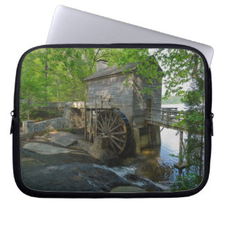 USA, Georgia, Stone Mountain, Watermill in trees Laptop Sleeve