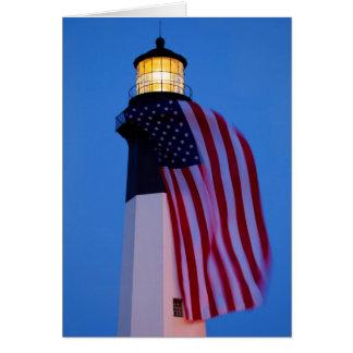 USA, Georgia, Tybee Island, Flag Flying 2 Card