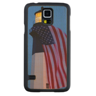 USA, Georgia, Tybee Island, Flag Flying 2 Maple Galaxy S5 Case