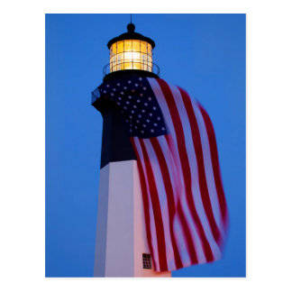 USA, Georgia, Tybee Island, Flag Flying 2 Postcard