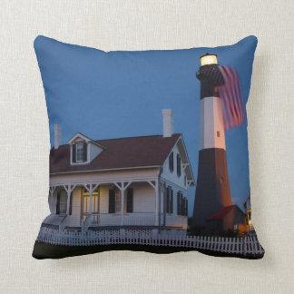 USA, Georgia, Tybee Island, Flag Flying Cushion