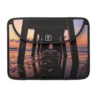 USA, Georgia, Tybee Island, Pier At Tybee Island Sleeve For MacBook Pro