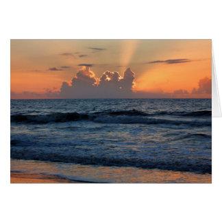 USA, Georgia, Tybee Island, Tybee Island Beach Card