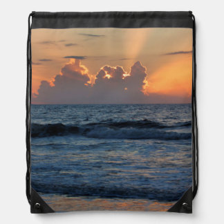USA, Georgia, Tybee Island, Tybee Island Beach Drawstring Bag