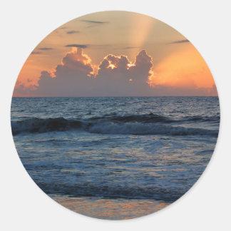 USA, Georgia, Tybee Island, Tybee Island Beach Round Sticker