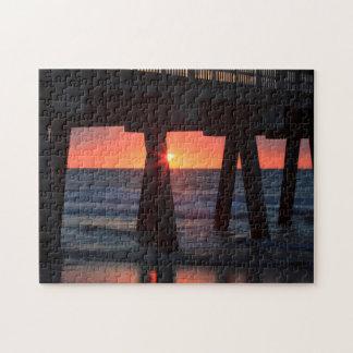 USA, Georgia, Tybee Island, Tybee Pier Jigsaw Puzzle