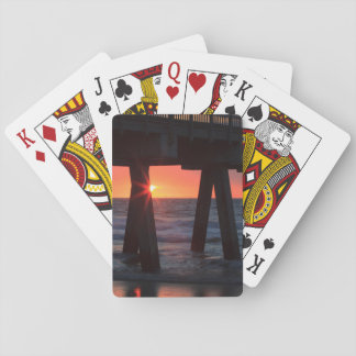 USA, Georgia, Tybee Island, Tybee Pier Playing Cards