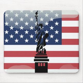 Usa glossy flag mouse pad