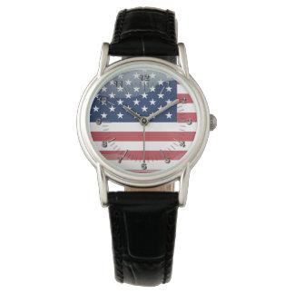 Usa glossy flag watch