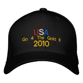 USA Go 4 The Gold !!  2010 Embroidered Baseball Cap