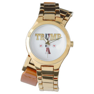 USA Gold Glitter Flag Color President Trump Watch