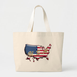 USA Gold Letters Tote Bags