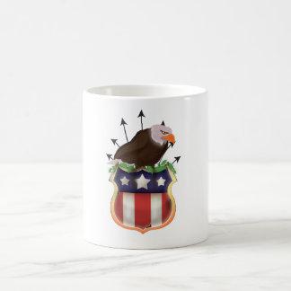 USA Golden Eagle Stars and Stripes crest Basic White Mug