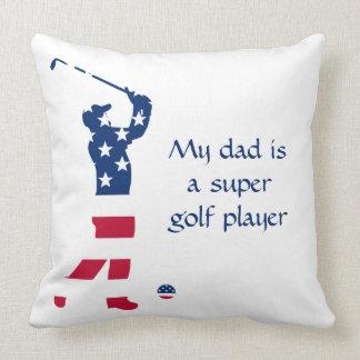 USA golf America flag golfer Cushion