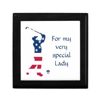 USA golf American flag golfer Gift Box