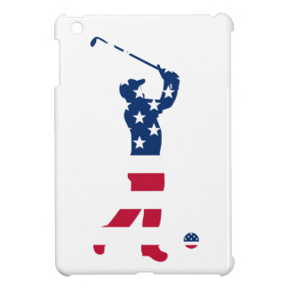 USA golf American flag golfer iPad Mini Cover