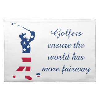 USA golf American flag golfer Placemat