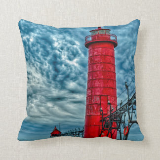 USA, Grand Haven, Michigan, lighthouse Cushion