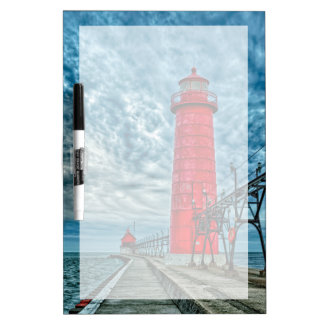 USA, Grand Haven, Michigan, lighthouse Dry Erase Board