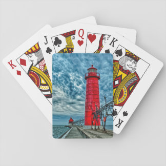 USA, Grand Haven, Michigan, lighthouse Playing Cards