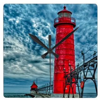 USA, Grand Haven, Michigan, lighthouse Wallclocks