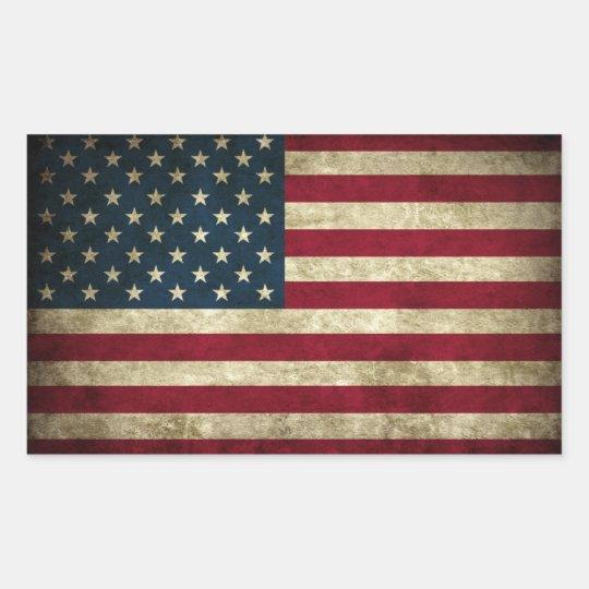 USA Grunge Flag Sticker