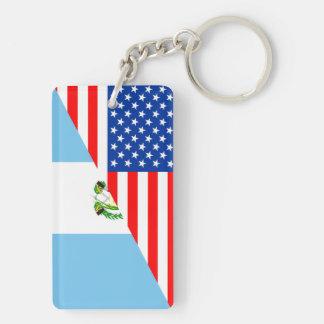 usa guatemala country half flag america symbol key ring