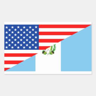 usa guatemala country half flag america symbol rectangular sticker