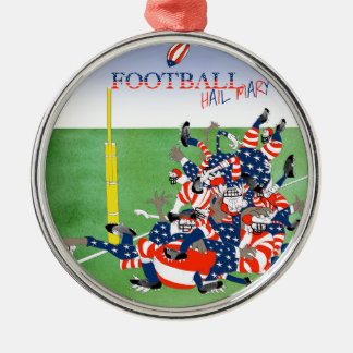 USA hail mary pass, tony fernandes Silver-Colored Round Decoration