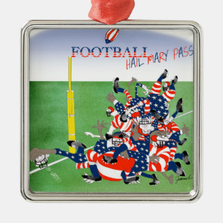 USA hail mary pass, tony fernandes Silver-Colored Square Decoration