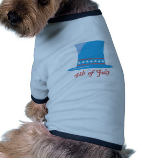 USA Hat 4th Of July Ringer Dog Shirt
