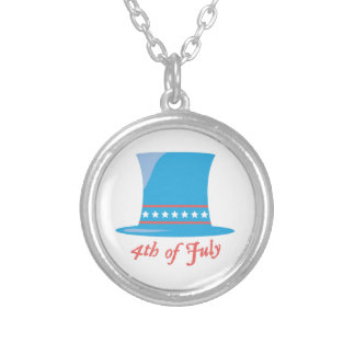 USA Hat 4th Of July Personalized Necklace