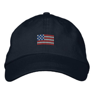 USA Hat - Abstract American Flag Hat Baseball Cap