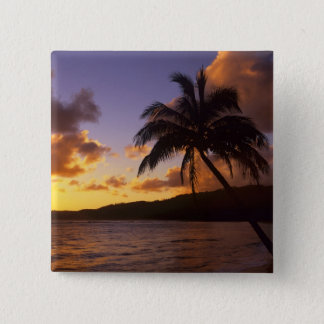 USA, Hawaii, Kauai, Colorful sunrise in a 2 15 Cm Square Badge