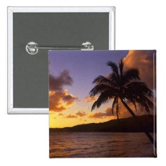 USA, Hawaii, Kauai, Colorful sunrise in a 2 15 Cm Square Badge