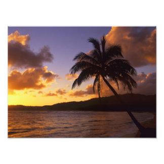 USA, Hawaii, Kauai, Colorful sunrise in a 2 Photograph