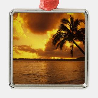 USA, Hawaii, Kauai, Colorful sunrise in a Christmas Ornament