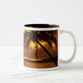 USA, Hawaii, Kauai, Colorful sunrise in a Two-Tone Coffee Mug