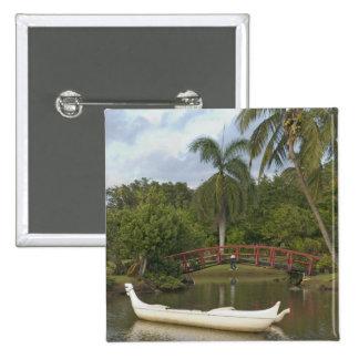 USA, Hawaii, Kauai, Smith Family Luau Garden Button