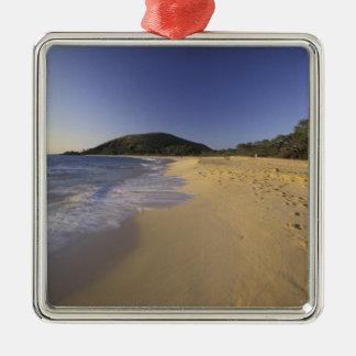 USA, Hawaii, Maui, Footprints in sand, Makena Christmas Ornament