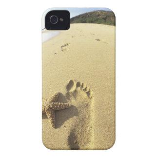 USA, Hawaii, Maui, Makena Beach, Footprint and iPhone 4 Case-Mate Cases