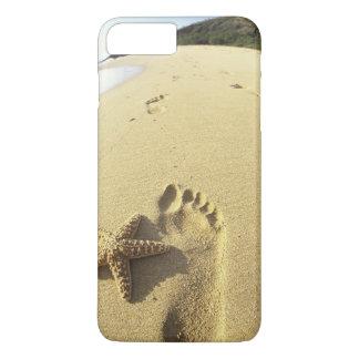 USA, Hawaii, Maui, Makena Beach, Footprint and iPhone 8 Plus/7 Plus Case