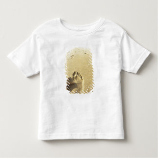 USA, Hawaii, Maui, Makena Beach, Footprint and Toddler T-Shirt