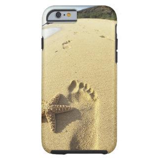 USA, Hawaii, Maui, Makena Beach, Footprint and Tough iPhone 6 Case