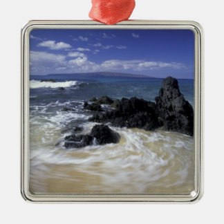 USA, Hawaii, Maui, Maui, Makena Beach, Surf on Christmas Ornament